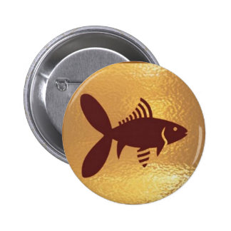 Fish Bird Insect Robot Star - Medal Icon Gold Base Buttons