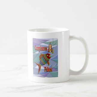 Fish Birthday Spanish/Mexican/Latino Basic White Mug
