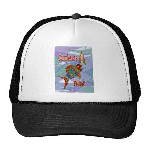 Fish Birthday Spanish/Mexican/Latino Mesh Hats