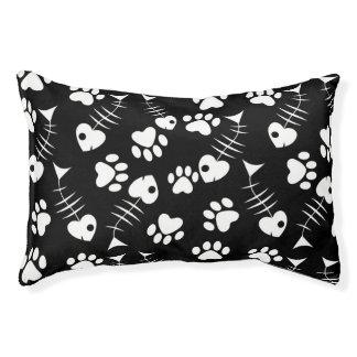 fish bone cat print pattern