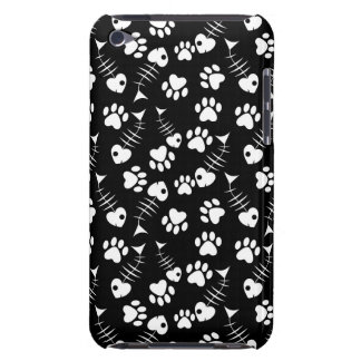 fish bone cat print pattern barely there iPod cases