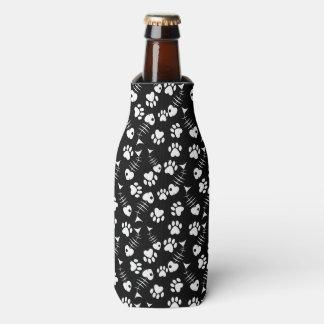 fish bone cat print pattern bottle cooler