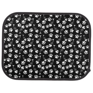 fish bone cat print pattern car mat