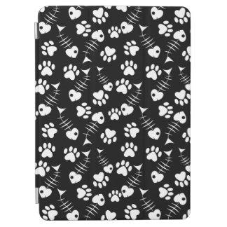fish bone cat print pattern iPad air cover