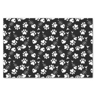 fish bone cat print pattern tissue paper