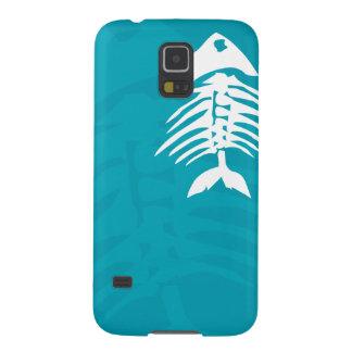 Fish Bones Blue Aqua S5 Phone Case