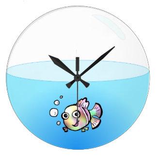 Fish Bowl Clock