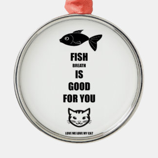 Fish Breath Is Good For You Silver-Colored Round Decoration