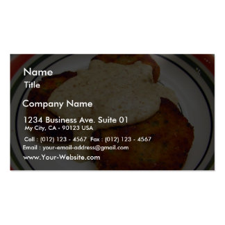 Fish Cakes Food Dinner Business Card Template