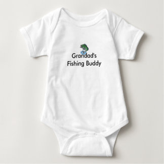 fish_cartoon, Grandad's Fishing Buddy Baby Bodysuit