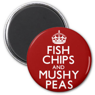 Fish Chips and Mushy Peas Magnet