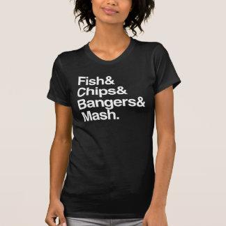Fish & Chips & Bangers & Mash. T-Shirt