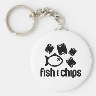 Fish Chips Keychains