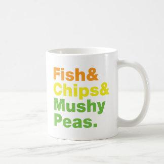 Fish & Chips & Mushy Peas. Coffee Mugs