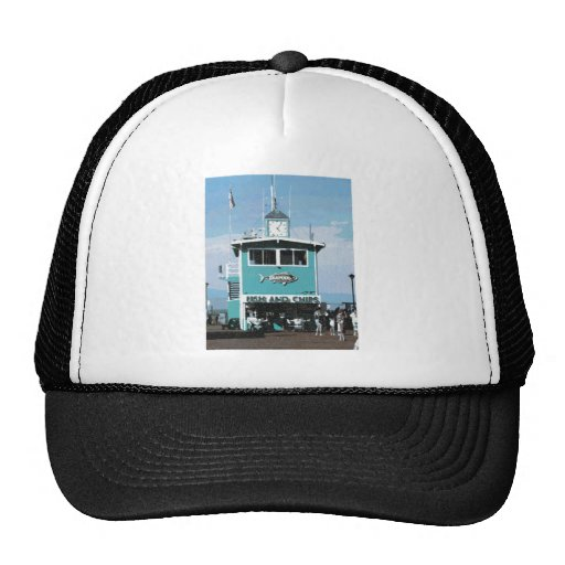 Fish & Chips Restaurant Drawing Hat