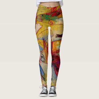 fish, colourful, original art, fun leggings