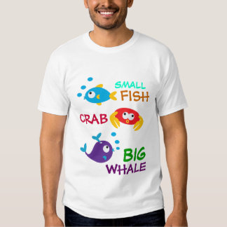 FISH,CRAB, & WHALE T SHIRTS