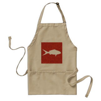 Fish Crackers Minimal Standard Apron