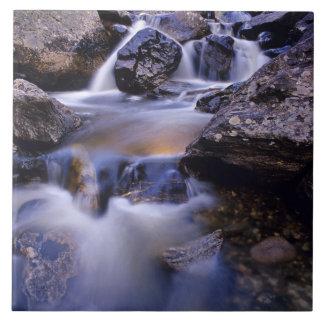 Fish Creek Falls near Steamboat Springs Colorado Large Square Tile