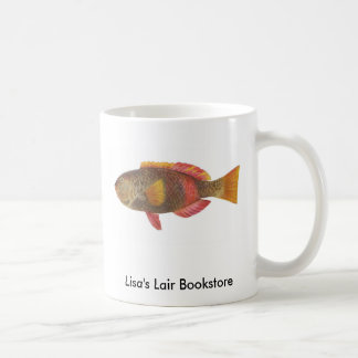 Fish - Crimson-Banded Parrot Fish Bookstore Promo Basic White Mug