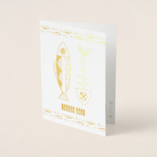 Fish decor Gold/Silver printing Foil Card