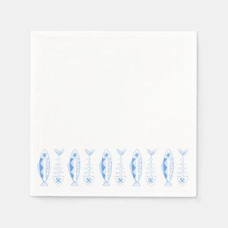Fish decor, various colours Cocktail Paper Napkins Disposable Napkin