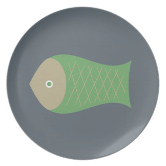 fish dish party plate