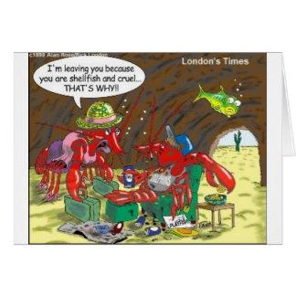 Fish Divorce Funny Cartoon Gifts Tees Collectibles Greeting Card