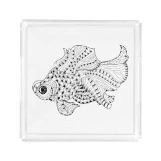 Fish Doodle Acrylic Tray