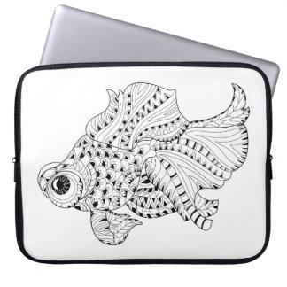 Fish Doodle Laptop Sleeve