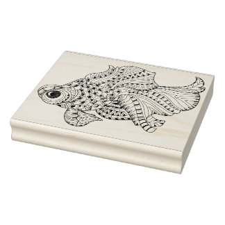 Fish Doodle Rubber Stamp