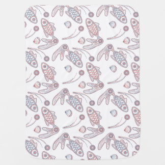 Fish Doodlely 1 - Baby Blanket