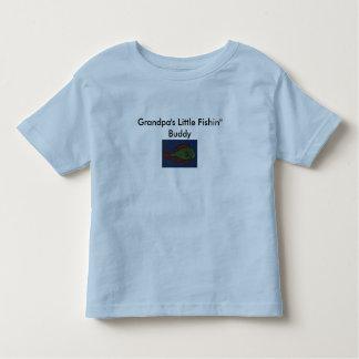 "Fish Drawing, Grandpa's Little Fishin"" Buddy Toddler T-Shirt"
