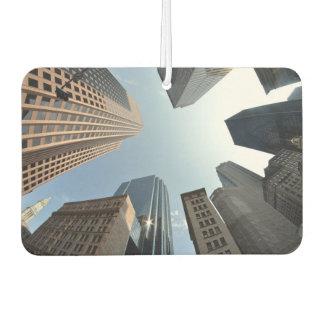 Fish-eye lens of building, Boston, US Car Air Freshener