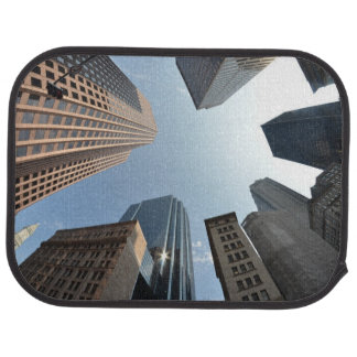 Fish-eye lens of building, Boston, US Car Mat