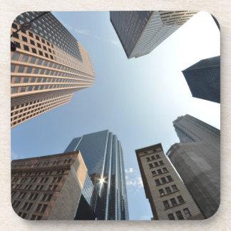 Fish-eye lens of building, Boston, US Coaster