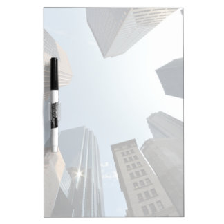 Fish-eye lens of building, Boston, US Dry Erase Board