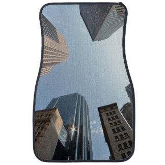 Fish-eye lens of building, Boston, US Floor Mat