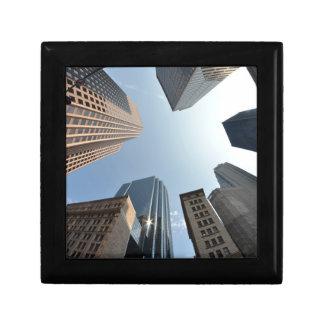 Fish-eye lens of building, Boston, US Gift Box