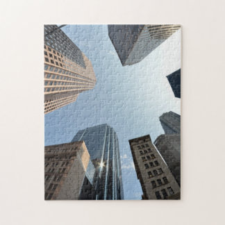 Fish-eye lens of building, Boston, US Jigsaw Puzzle