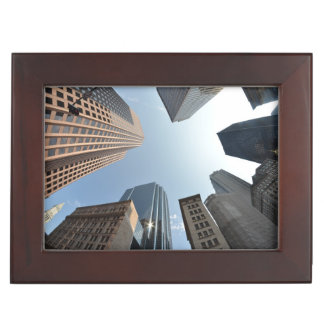 Fish-eye lens of building, Boston, US Keepsake Box
