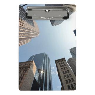 Fish-eye lens of building, Boston, US Mini Clipboard