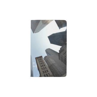 Fish-eye lens of building, Boston, US Pocket Moleskine Notebook