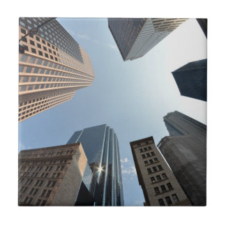 Fish-eye lens of building, Boston, US Tile