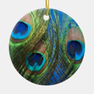 Fish Eye Peacock Still Life Christmas Ornament
