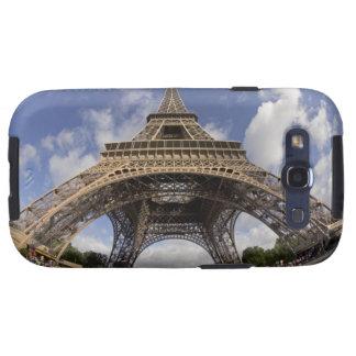 Fish eye shot of Eiffel tower Samsung Galaxy SIII Cases