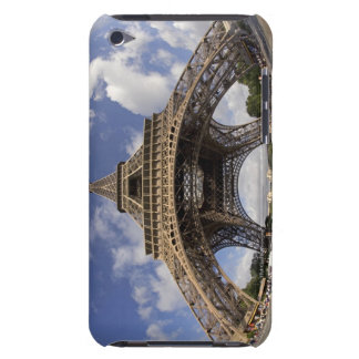 Fish eye shot of Eiffel tower iPod Touch Cover