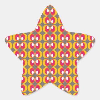 fish eye star sticker