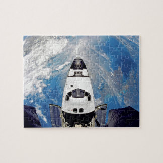 Fish Eye View Space Shuttle Atlantis Earth Orbit Jigsaw Puzzle