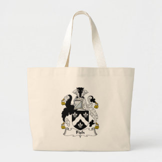 Fish Family Crest Large Tote Bag